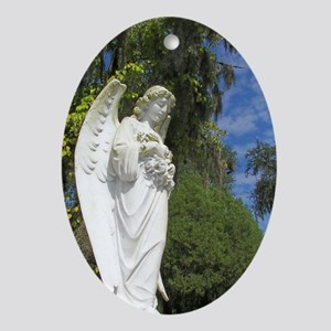 Watchful Angel Oval Ornament
